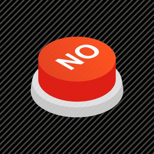 isometric, no, power, pressbutton, sign, start, style icon