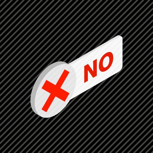 design, element, isometric, no, round, sign, style icon