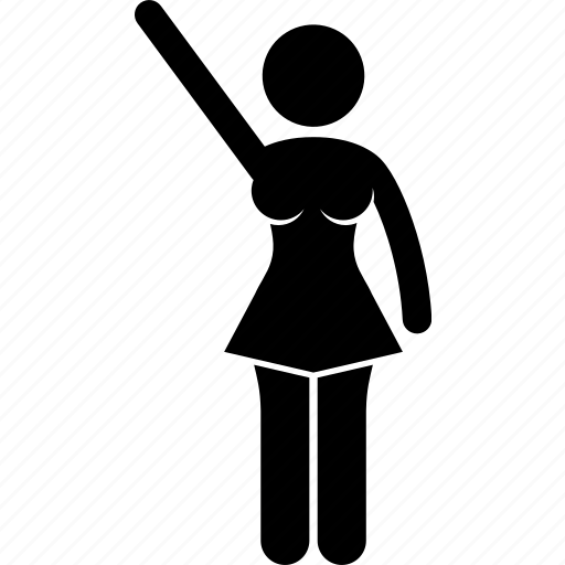 athlete, cheerleader, girl, hand, spirit, victory, wave icon