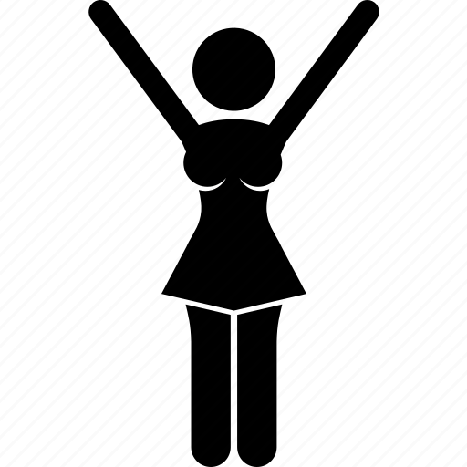 athlete, cheer, cheerleader, energetic, girl, gymnastic, victory icon