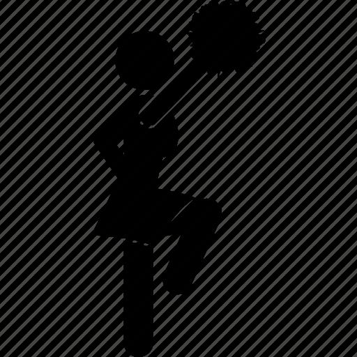 activity, cheerleader, dance, energetic, girl, performance, poses icon