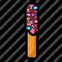 cheese, cookies, cream, snack, stick, strawberry icon