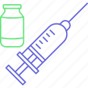 injection with vaccine, immunization, injecting, injection icon