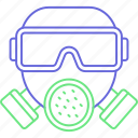 water mask, chemical mask, gas mask, industrial mask icon