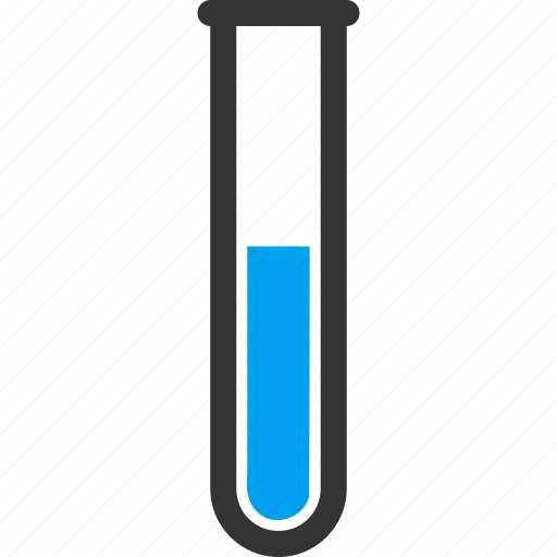 blue liquied, chemical analysis, chemistry, lab, test tube, testtube, tubes icon