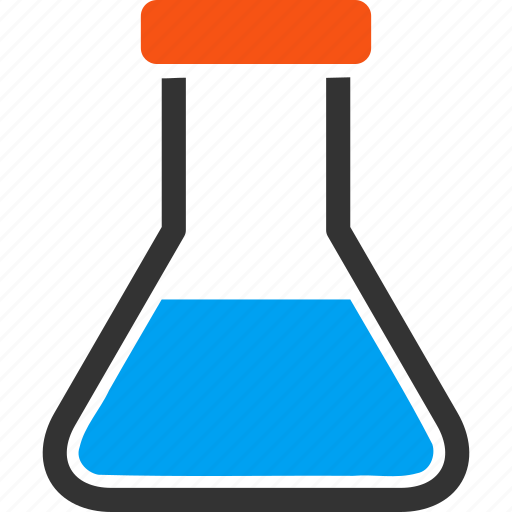 chemical container, chemical glass, chemistry, flask, laboratory, retort, test tube icon