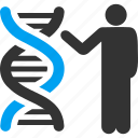 dna structure, genetic biology, genetic engineering, genetics, genome chain, report, spiral molecule icon