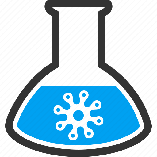 flask, infection, laboratory, medical container, retort, virus icon