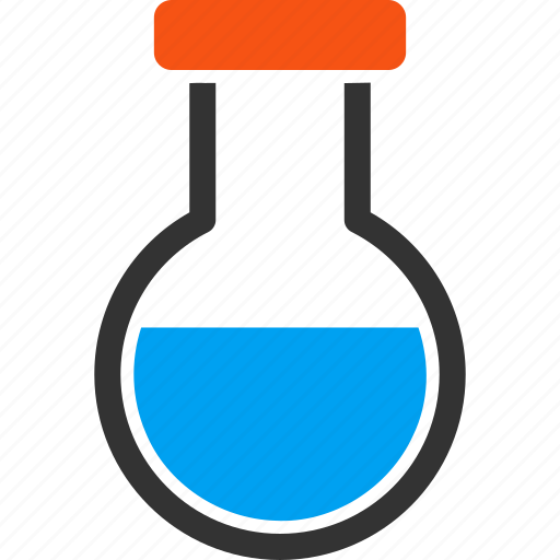 chemical container, chemistry, flask, laboratory, phial, retort, test tube icon