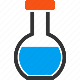analytics, chemical container, chemistry, flask, laboratory, round retort, test tube icon