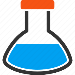 chemical container, chemical glass, chemistry, laboratory, retort, rounded flask, test tube icon