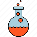 chemistry, experiment, flask, laboratory, reagents, science icon