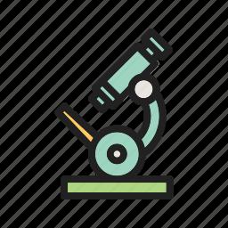 lab, laboratory, lens, medical, microscope, research, scientific icon