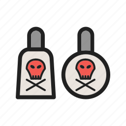 chemicals, chemistry, laboratory, materials, poisonous, safety, toxic icon