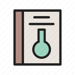 book, chemistry, education, experiment, images, research, science icon
