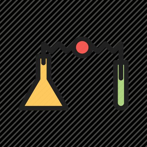 education, experiment, lab, laboratory, science, scientific, scientist icon