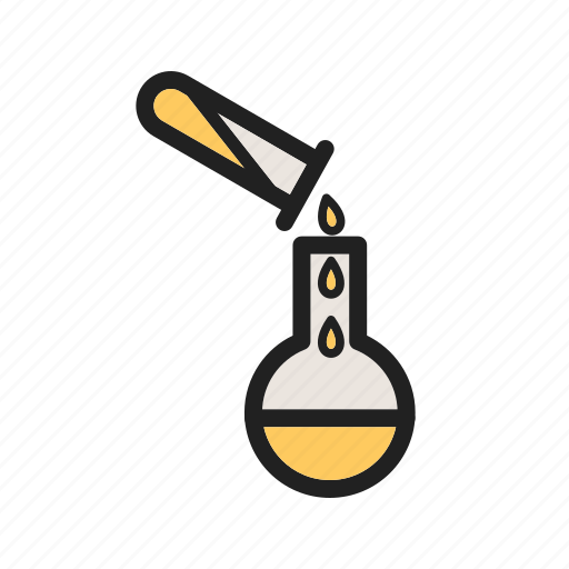 chemical, experiment, flask, lab, laboratory, pour, pouring icon