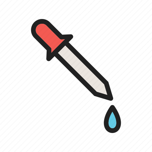 chemical, dropper, equipment, glass, liquid, pipette, water icon
