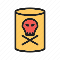 chemical, container, danger, dangerous, industry, label, warning icon