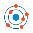 atom, atomic, carbon, chemical, formula, molecule, structure icon