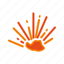 experiment, explosion, fire, flame, lab, power, smoke icon