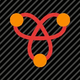 atom, atomic, carbon, chemical, formula, molecule, structure icon