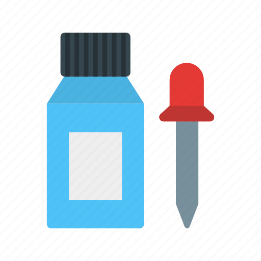 bottle, chemical, dropper, equipment, glass, liquid, pipette icon