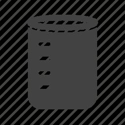 beaker, glass, laboratory, liquid, science, volume, water icon