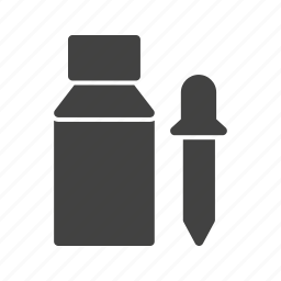 bottle, chemical, dropper, equipment, glass, liquid, pipette icon