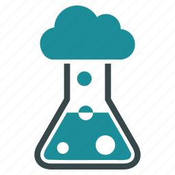 boil, chemical, cloud, flask, gas, retort, vapour icon