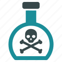 caution, danger, death, hazard, poison, risk, toxic icon