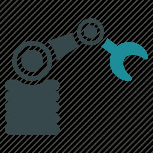 automation, equipment, industry, manipulator, robot, robotic, technology icon