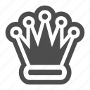 chess, crown, game, piece, queen, strategy icon