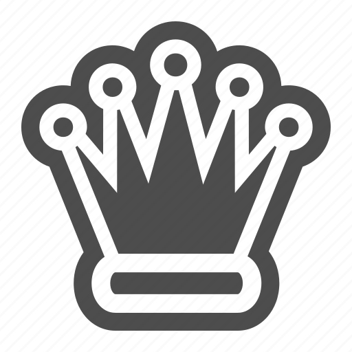 Queen, piece, chess, strategy, game, crown icon - Download on Iconfinder