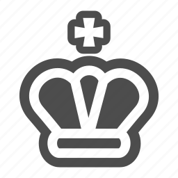 chess, crown, game, king, piece, strategy icon