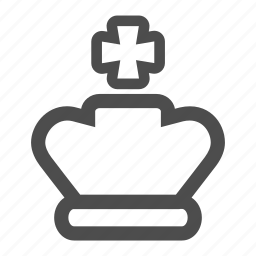 chess, crown, game, king, piece, royal, strategy icon