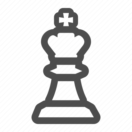 chess, crown, game, king, piece, play, strategy icon