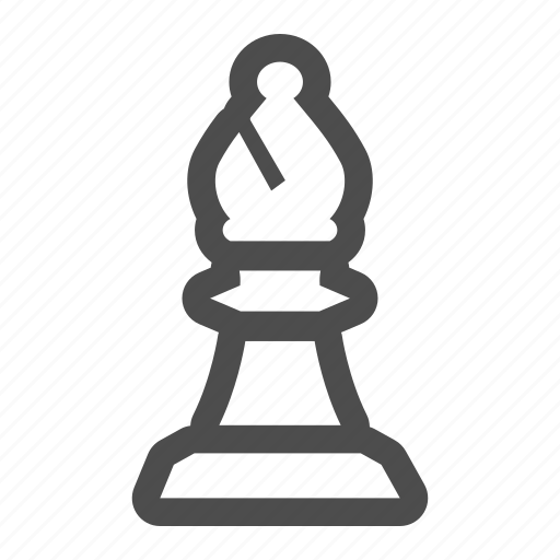 bishop, chess, game, piece, strategy icon