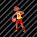 child, aggressive, boy, playing, basketball, playground, school, student