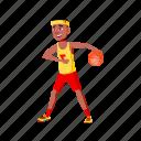 child, sportsman, man, playing, basketball, team, playground, school