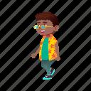 child, cute, happy, stylish, african, boy, sunglasses, walking