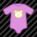 baby, bodysuit, clothing, infant, newborn, romper, suit icon