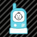baby, babysitter, infant, monitor, newborn, radio nanny, walkie talkie icon