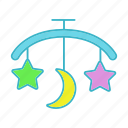 baby, bed carousel, bedtime, child, hanging rattle, lullaby, sleeping icon