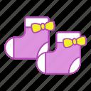 baby girl, booties, clothing, footwear, infant, newborn, socks icon