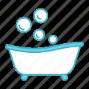 baby, bath, bathing, bathtub, bubbles, child, newborn