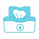 antibacterial, hygiene, napkins, pack, tissues, wet, wipes icon
