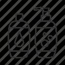 bath, bottle, lotion, shampoo, shower gel, skincare, soap icon
