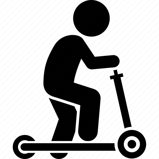 child, children, playing, scooter icon