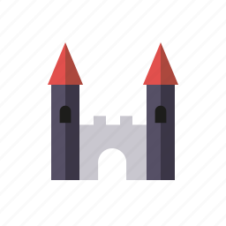 building, castle, fort, fortress, playing, towers, toys icon